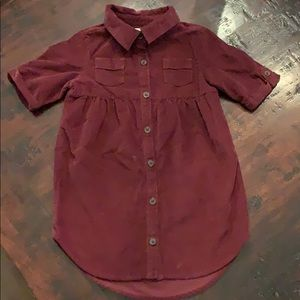 Sz 3 merlot corduroy dress